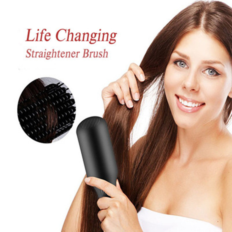Negative Ionic Straightening Brush, Do Hair As Easy As Combing Hair!